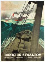Advertising Poster Randers Staaltov Ship Steel Rope