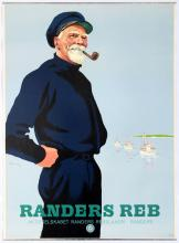Advertising Poster Randers Ropes Old Sailor Pipe