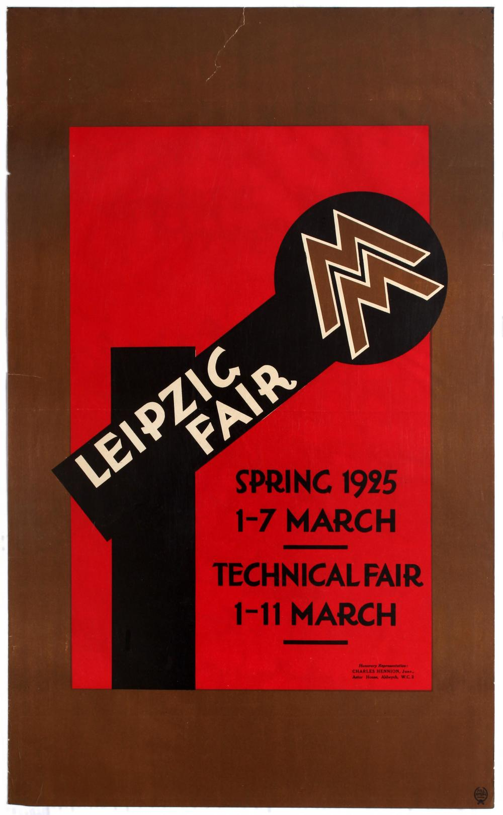 Sold Price Advertising Poster Leipzig Fair Technical Fair Spring 1925 Germany Bauhaus August 6 0119 3 00 Pm Bst