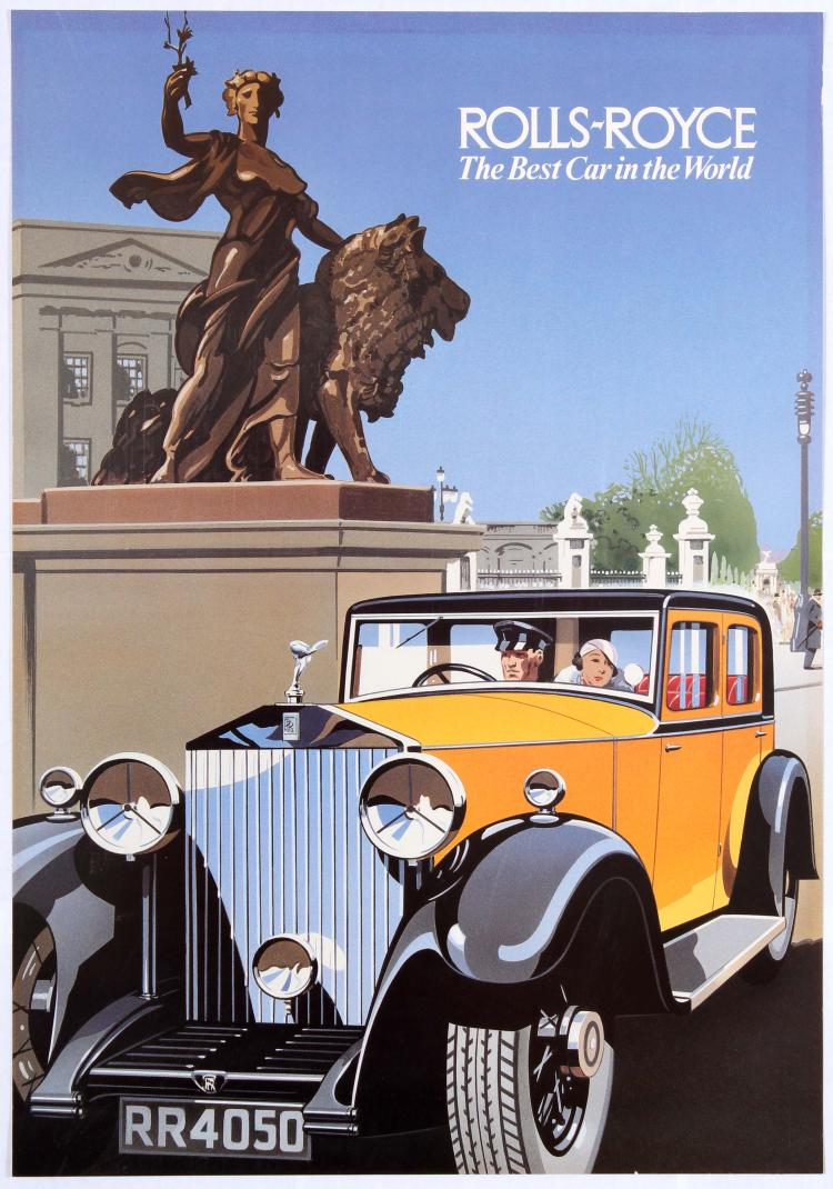 Original Vintage Advertising Poster Rolls Royce Phantom Lond