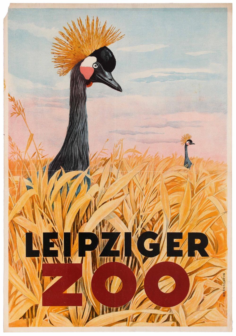 Travel Poster Leipziger Zoo Birds Leipzig Germany