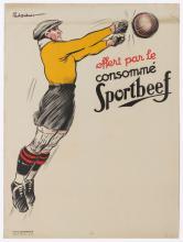SPORT POSTER SPORTBEEF FOOTBALL PAUL ORDNER 1920S