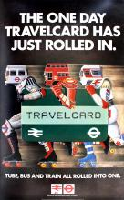 Advertising Poster LT Travelcard - Rollerblading London Transport