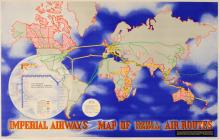 Advertising Poster Imperial Airways Air Routes Moholy-Nagy