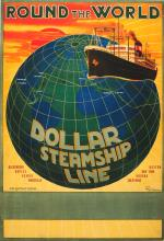 Advertising Poster Round the World Dollar Steamship Line