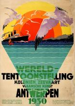 Advertising Poster Antwerp World Fair 1930 Art Deco