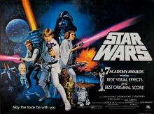 Movie Poster Star Wars British Oscars Quad Chantrell