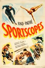 Movie Poster Sportscopes RKO Skiing Boxing Diving