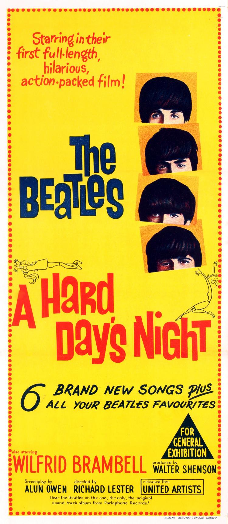 Movie Poster The Beatles A Hard Days Night