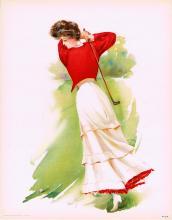 Sport Poster Golf - Lady Golfer