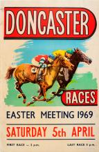 Sport Poster Doncaster Horse Races 1969