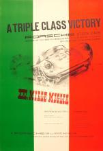 Sport Poster Mille Miglia Porsche 550 Spyder 356 1954