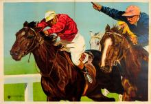 Sport Poster Horse Racing Jockeys