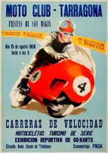 Sport Poster Motorcycle Racing Tarragona 1960