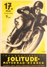 Sport Poster Solitude Motorcycle Racing 1936