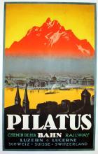 Travel Poster Pilatus Luzern Switzerland