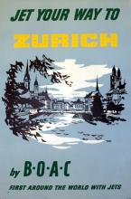 Travel Poster Zurich by BOAC