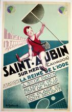 Travel Poster Saint-Aubin Sur Mer, Calvados