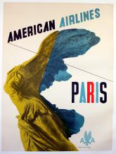 Travel Poster Paris - American Airlines
