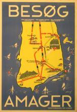 Travel Poster Visit Amager - Besog Amager