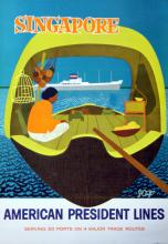 Travel Poster Singapore American President Lines