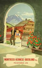 Travel Poster Switzerland - MOB Railway