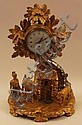 Rococo table clock