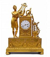 A Mantle Clock - Apollon playing the Lyre