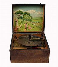 Kalliope, Disc Music Box with Four Bells