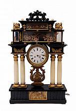 Musical Mantel Clock with Music Box
