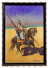 Arabic Warrior on Horseback