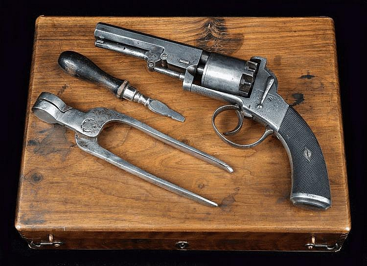 A Cased Percussion Revolver, George Higham