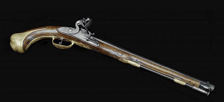 A Long Flintlock Pistol, Anton Penzeneder, Vienna
