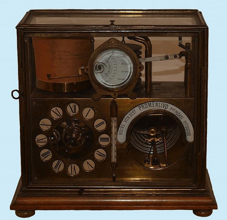 Clock/Barograph combination
