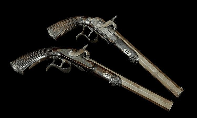 A Pair of Percussion Pistols, Carlo Maria Colombo