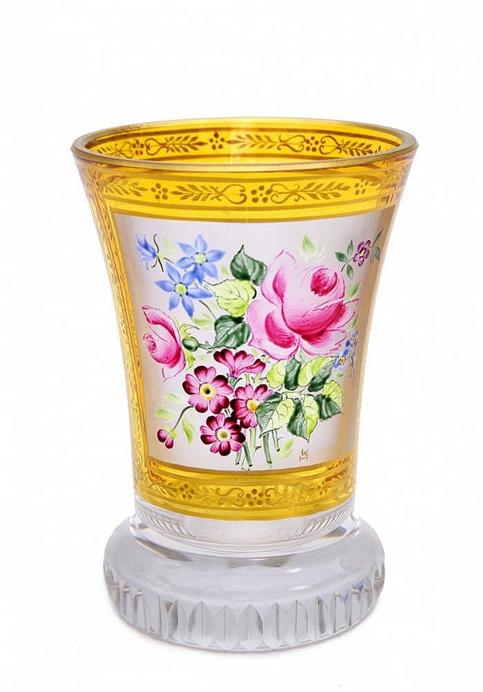 Bell Shaped Goblet Ranftbecher Type With A Painting Of A B