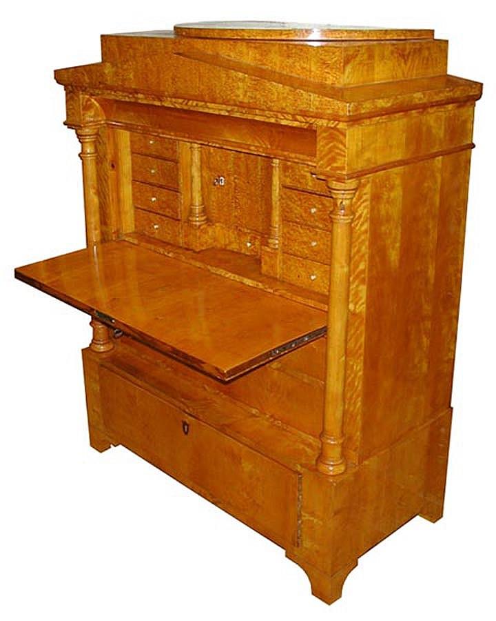 Rare Biedermeier Style Antique Secretary Desk