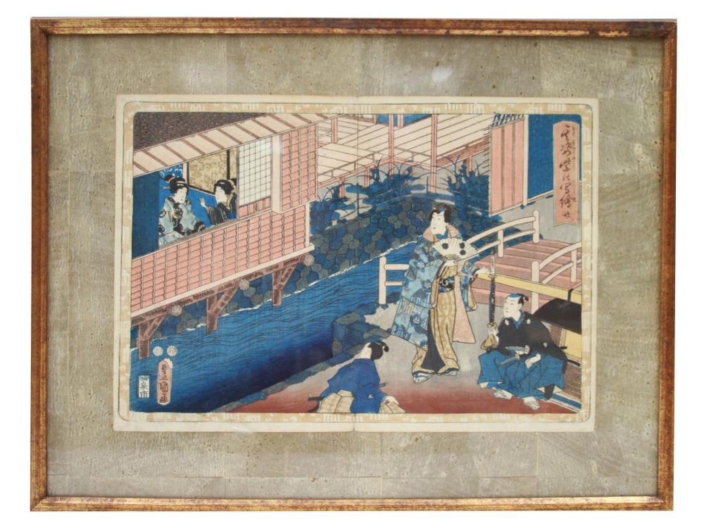 A JAPANESE WOODBLOCK PRINT BY UTAGAWA KUNISADA