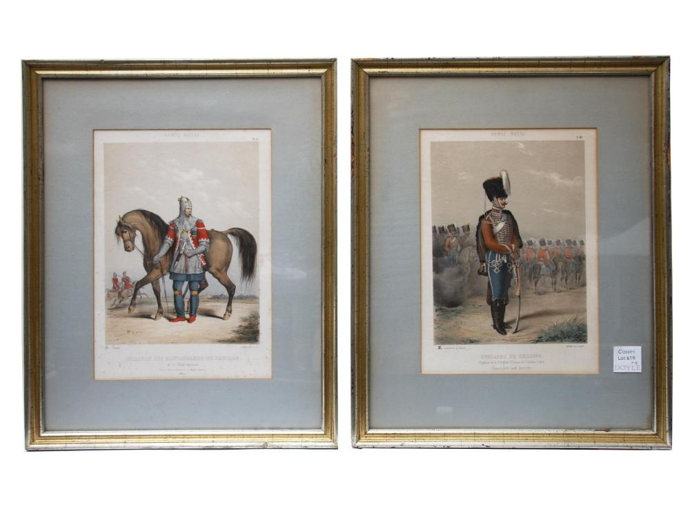 AFTER CHARLES PAJOL PAIR LITHOGRAPHS RUSSIAN ARMY