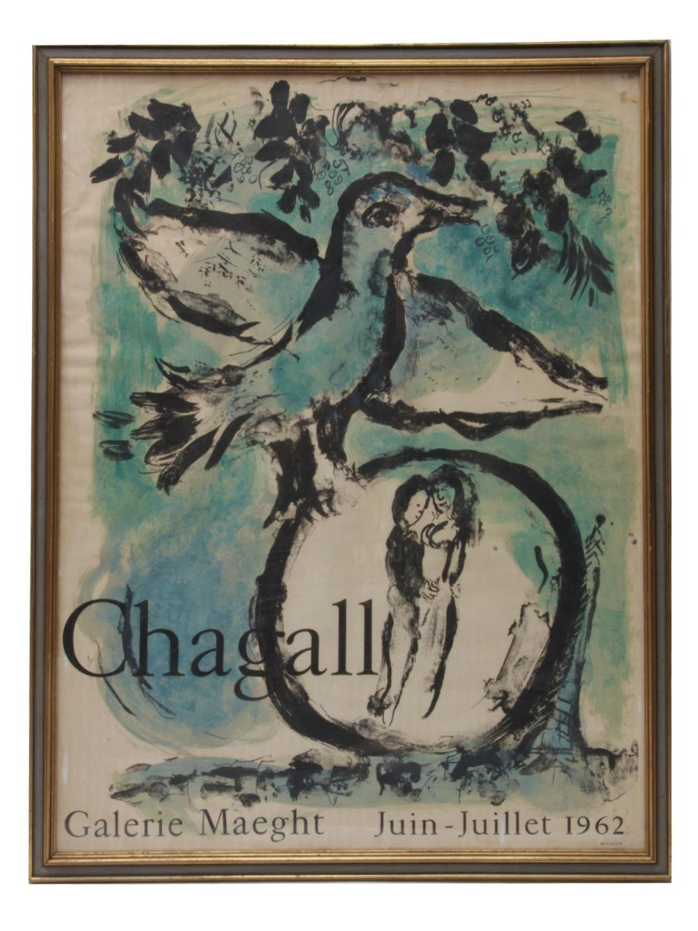 A VINTAGE GALERIE MAEGHT POSTER MARC CHAGALL