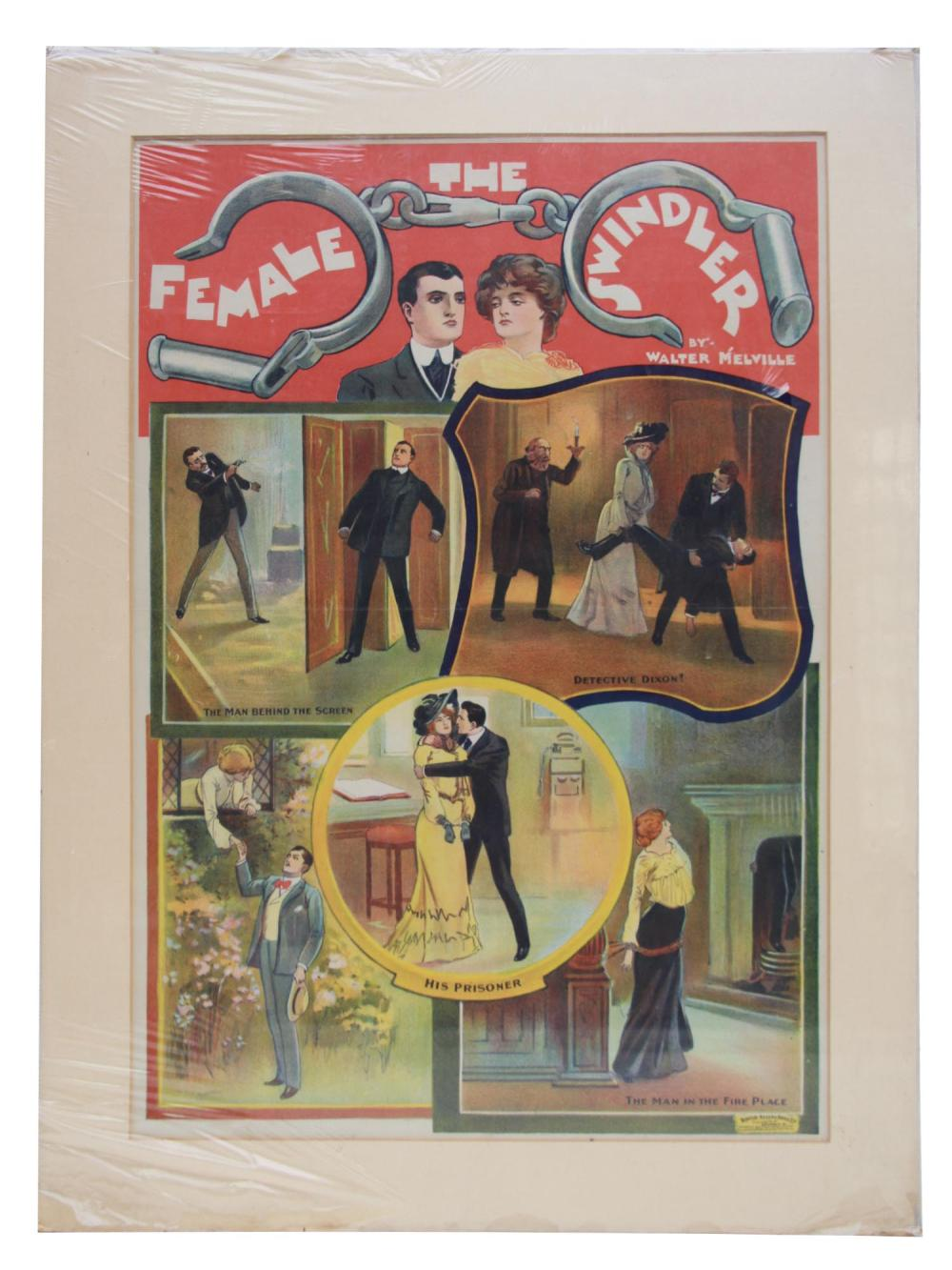 AN ENGLISH THEATRE MELODRAMA POSTER 1912
