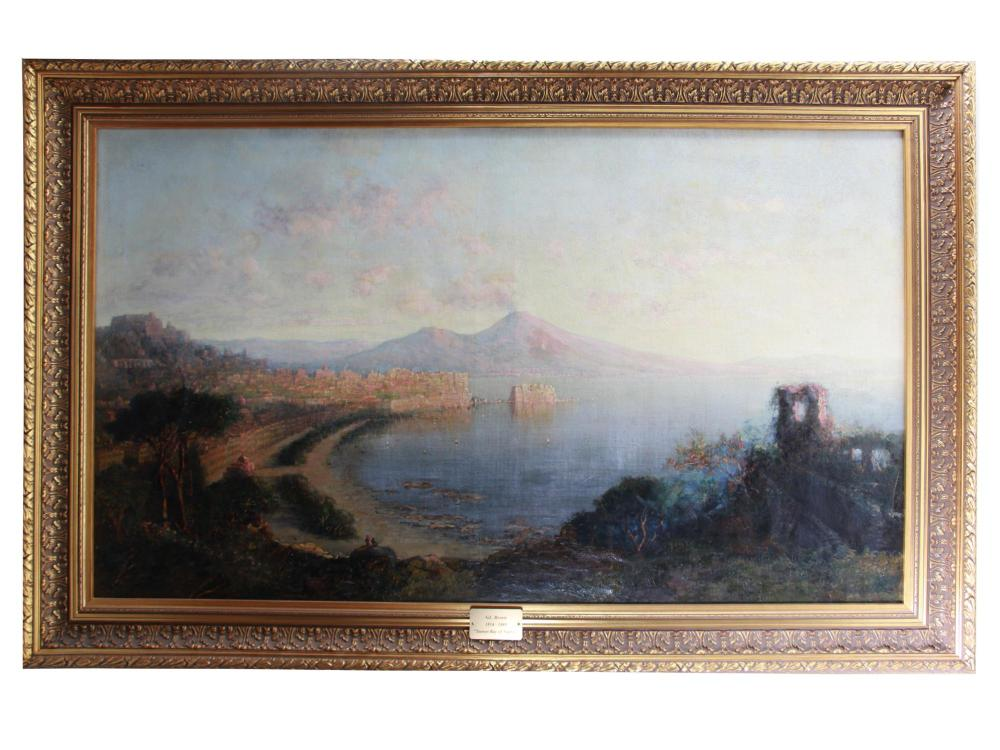 SUNSET BAY OF NAPLES BY GEORGE LORING BROWN