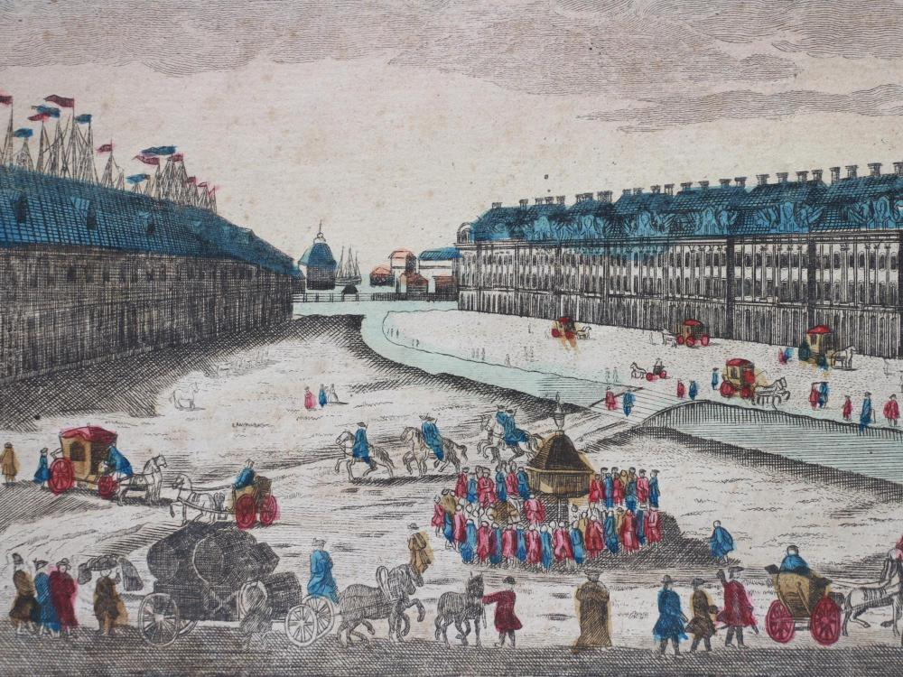 18TH CENTURY COLOR OPTICAL PRINT OF ST PETERSBURG
