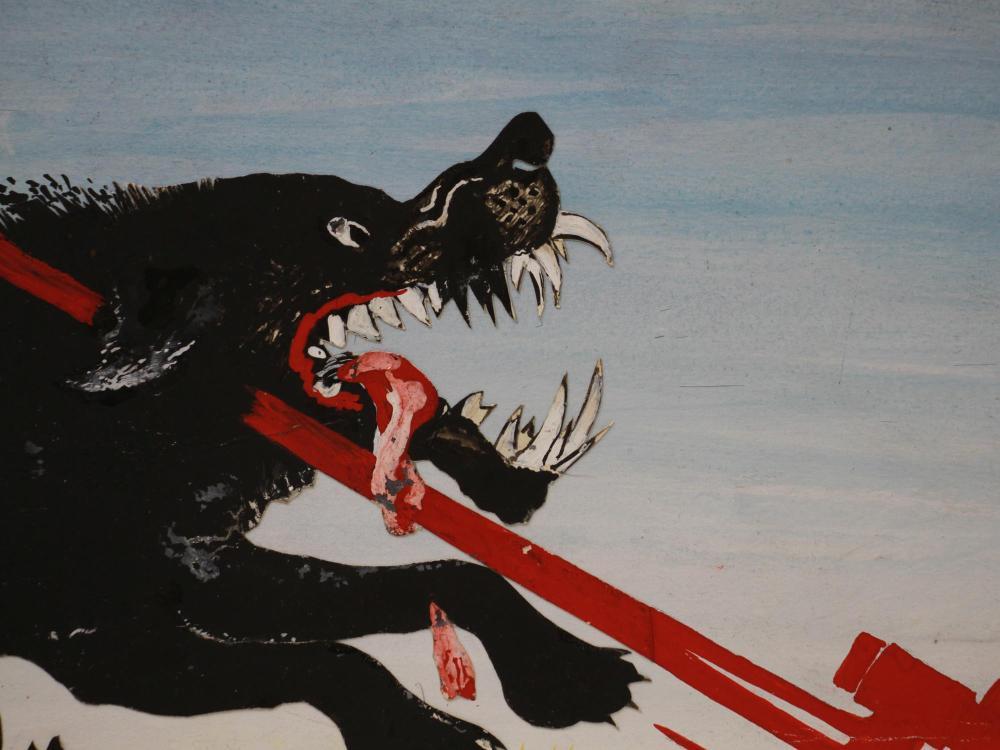 SOVIET ORIGINAL PAINTING MAQUETTE POSTER BY GALBA