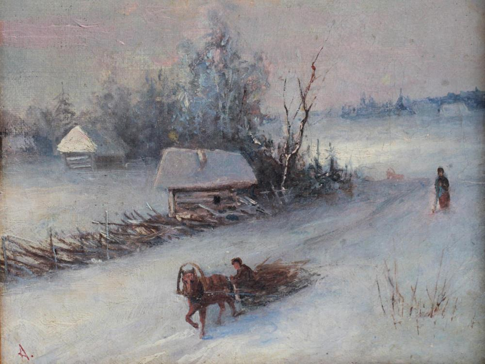 ATTR TO IVAN AIVAZOVSKY RUSSIAN OIL PAINTING