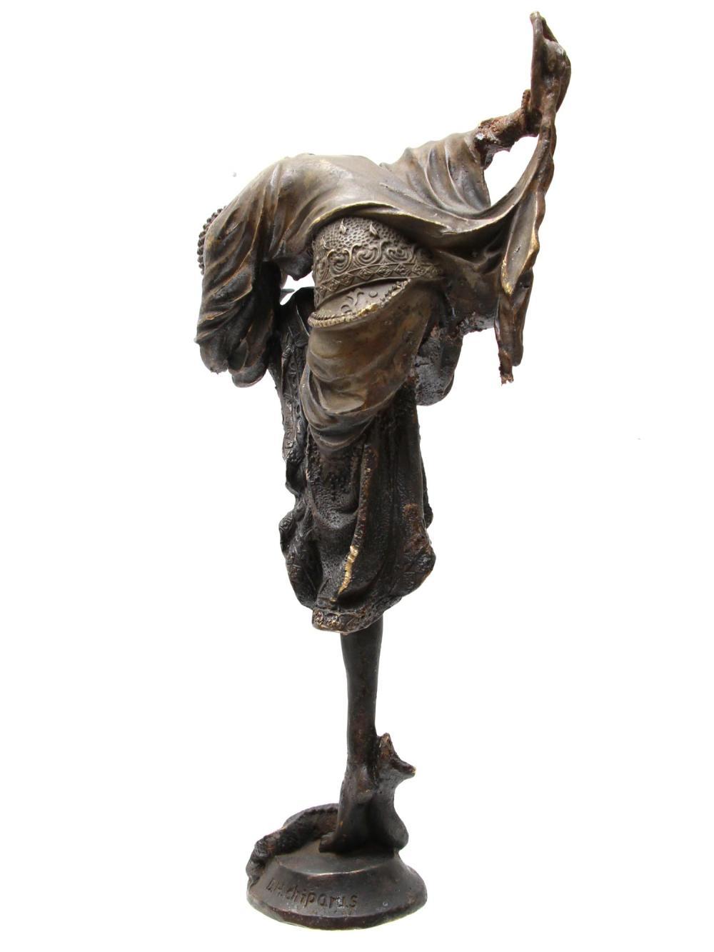 ART DECO BRONZE STATUE BY DEMETRE H CHIPARUS