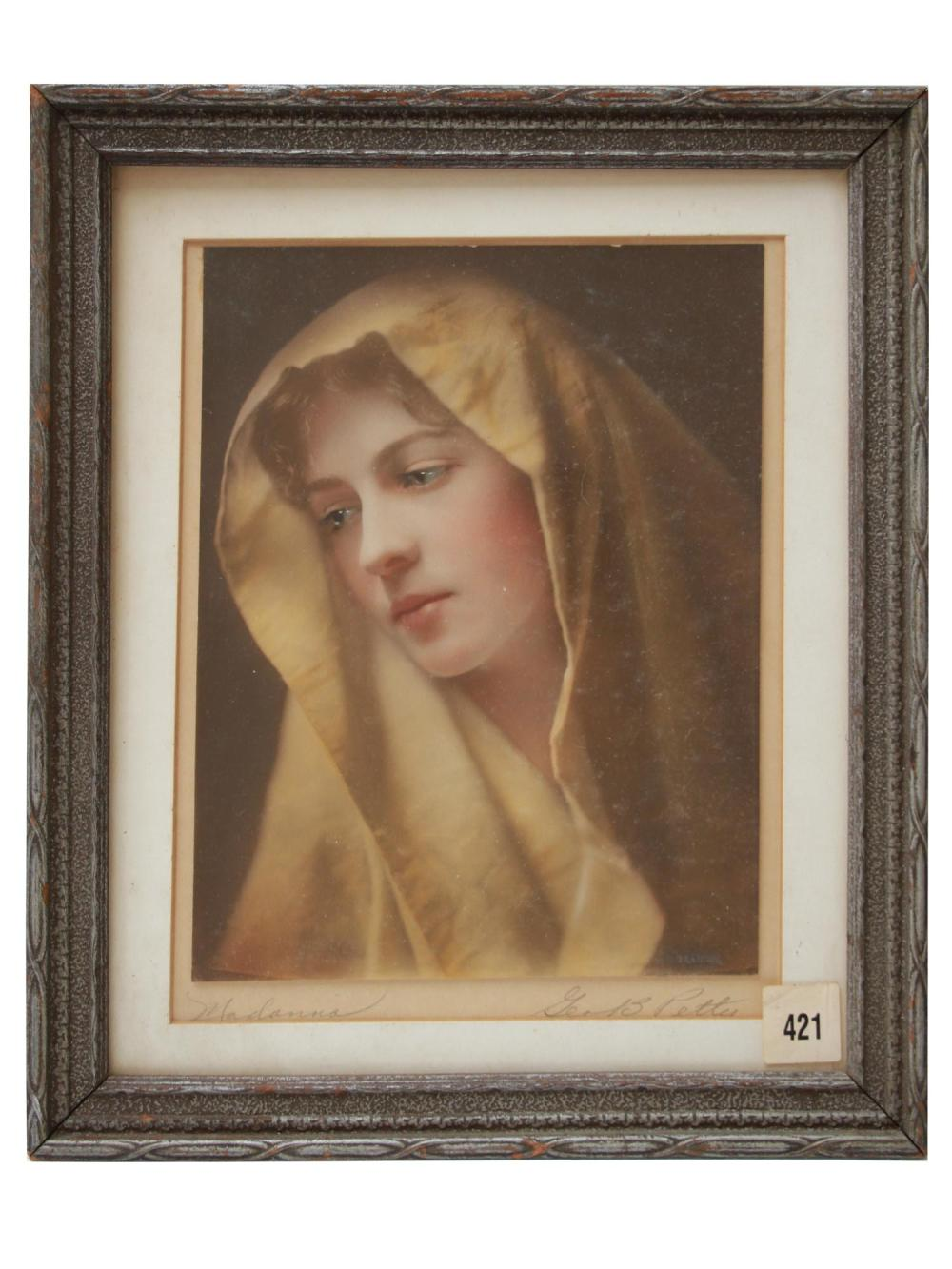 HAND COLORED PHOTO MODERN MADONNA BY GEORGE PETTY