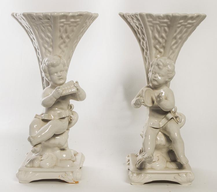 White Porcelain Spill Vases