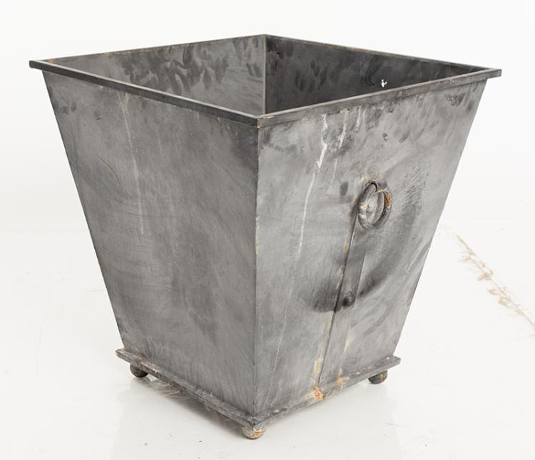 Square Zinc Planter. Medium