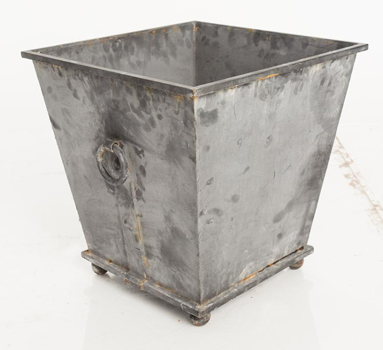 Zinc Planter. Square Shape